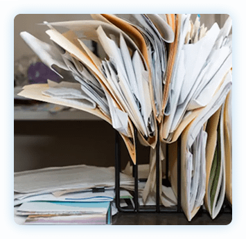 Papers on desk