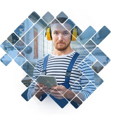 Operator with iPad