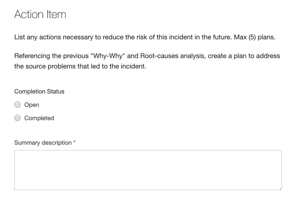Action Items forms Automation