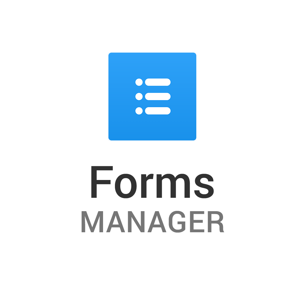 Forms Manager Stacked