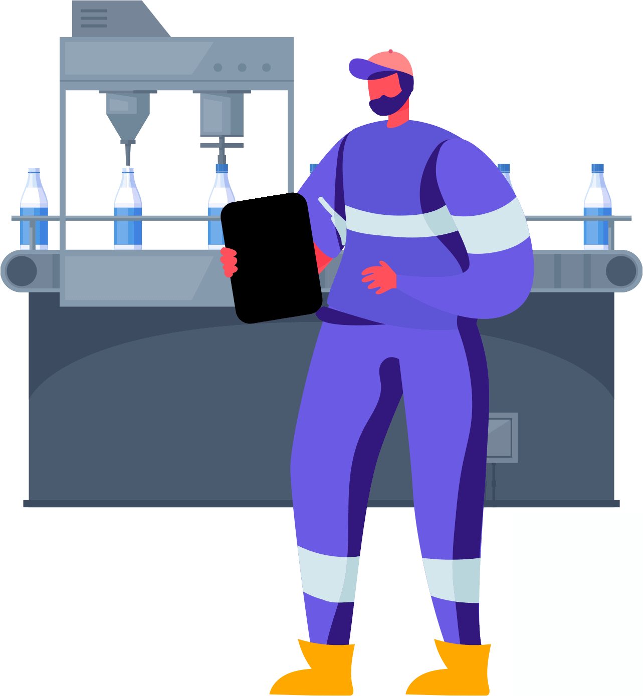 Factory Monitoring Header