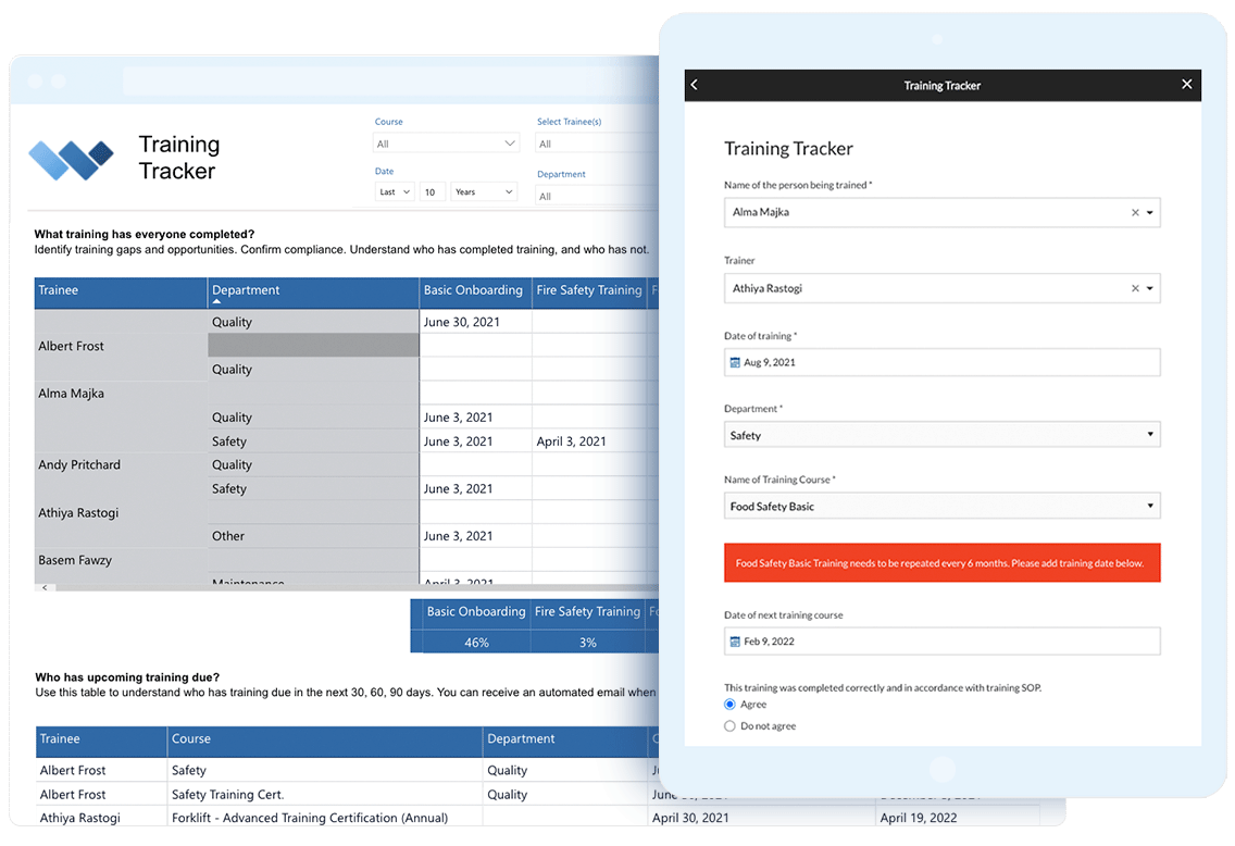 training-tracker-report-and-form