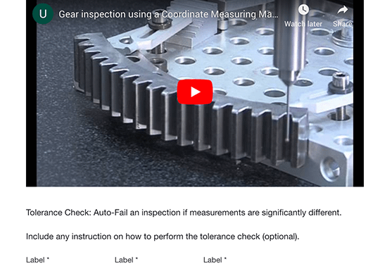 Machine Inspection Feature
