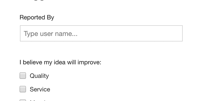 Suggestions Form Template